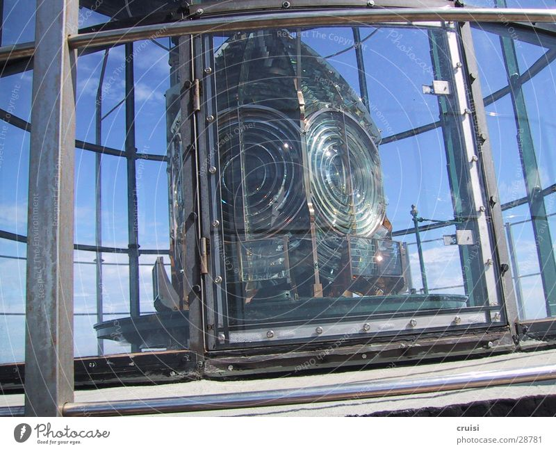 beacons Lighthouse Beacon Lamp St.Tropez Radiation Obscure Cote d'Azur Glass reflection Beam of light Warning label