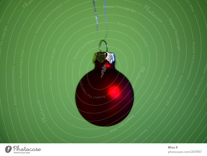 Christmas & Advent Red Glittering Decoration Round Sphere Glitter Ball Christmas decoration Christmas tree decorations