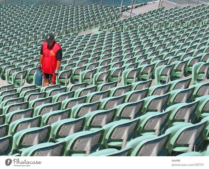 Red Calm Loneliness Sports Empty Chair Theatre Stage Seating Stadium Janitor Outdoor festival Sporting Complex
