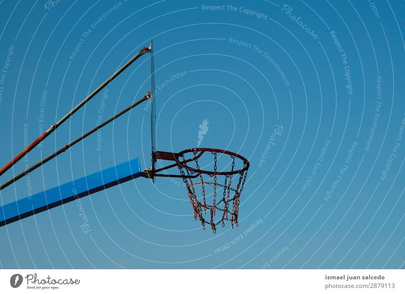 basketball sport in the street Basketball Sports Playing Abandon Old Street Park Playground Exterior shot Broken Neutral Background Bilbao Spain