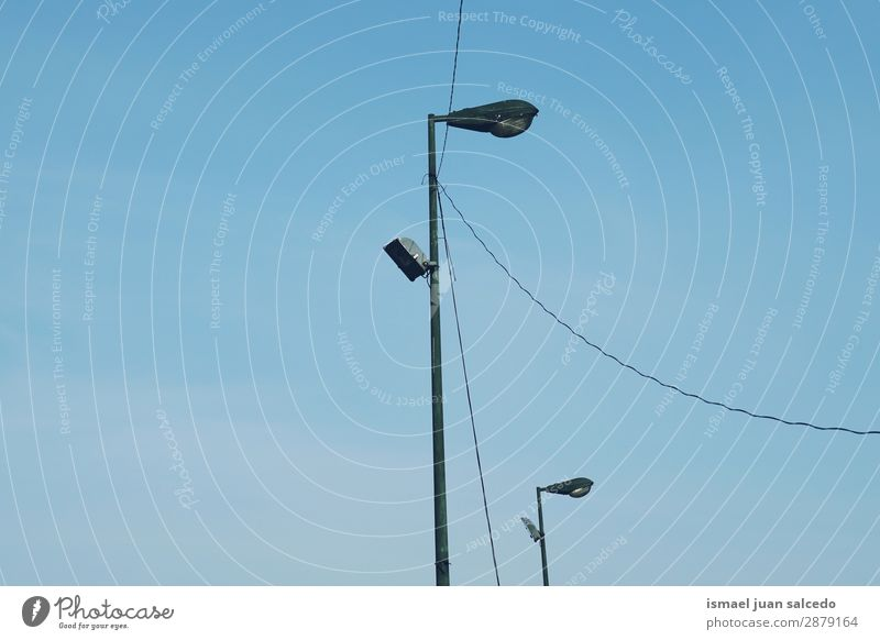 street light in the city Street lamp Street lighting Lamp post Lighting Illumination City Metal Object photography Exterior shot background Old Town City life