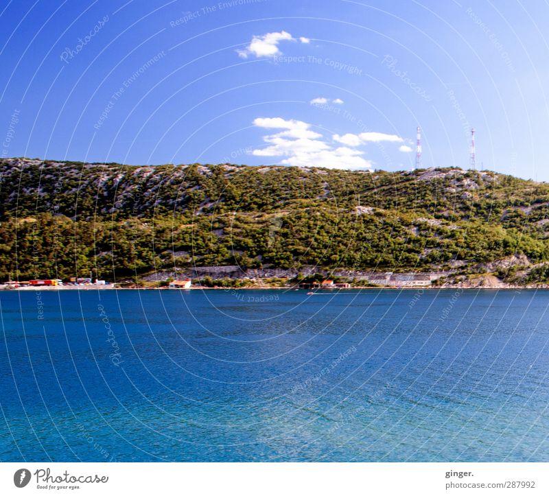 Sky Nature Blue Water Green Summer Ocean Clouds Calm Landscape Environment Mountain Warmth Coast Rock Brown