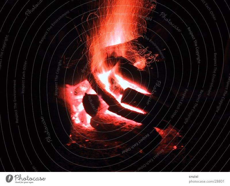 fire alarm Barbecue (event) Embers Red Black Night Blaze Fireplace