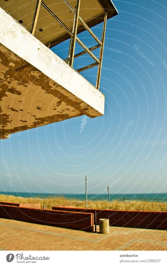 sellin Environment Nature Landscape Cloudless sky Horizon Summer Climate Climate change Weather Beautiful weather Coast Baltic Sea Ocean Village Fishing village