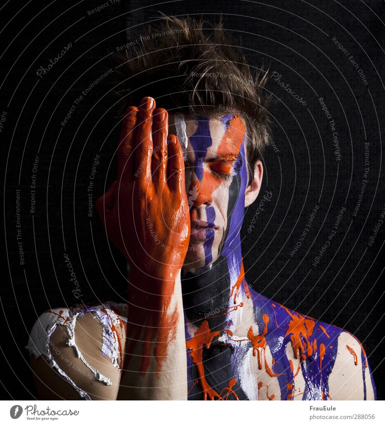 Human being Man Youth (Young adults) White Hand Colour Black Adults Emotions 18 - 30 years Orange Masculine Fresh Violet Serene Trashy
