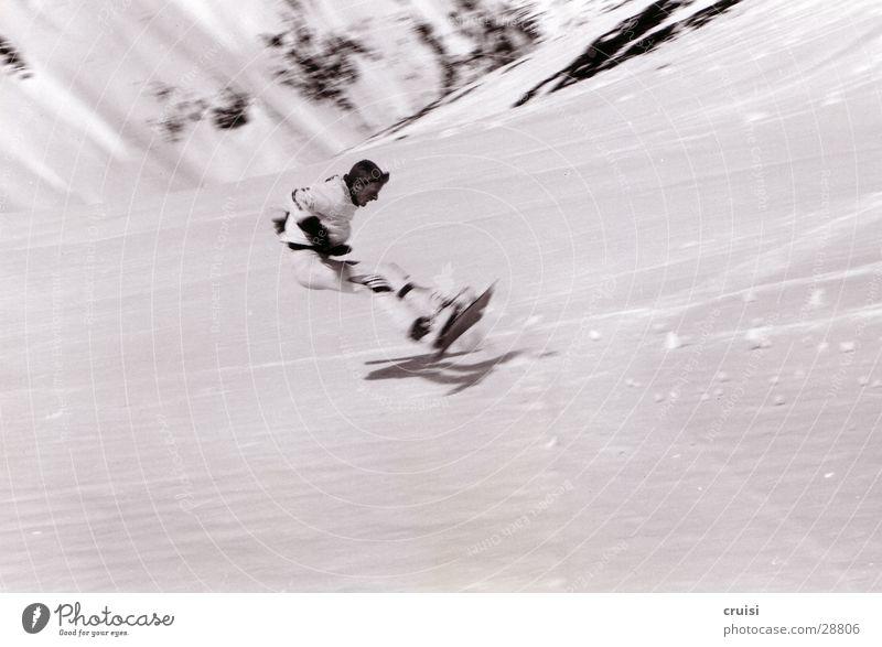 Snow Sports Speed Dangerous Risk Sudden fall Austria Snowboard Backwards Winter vacation Adversity Ski run Snowboarding Hit Snowboarder Deep snow