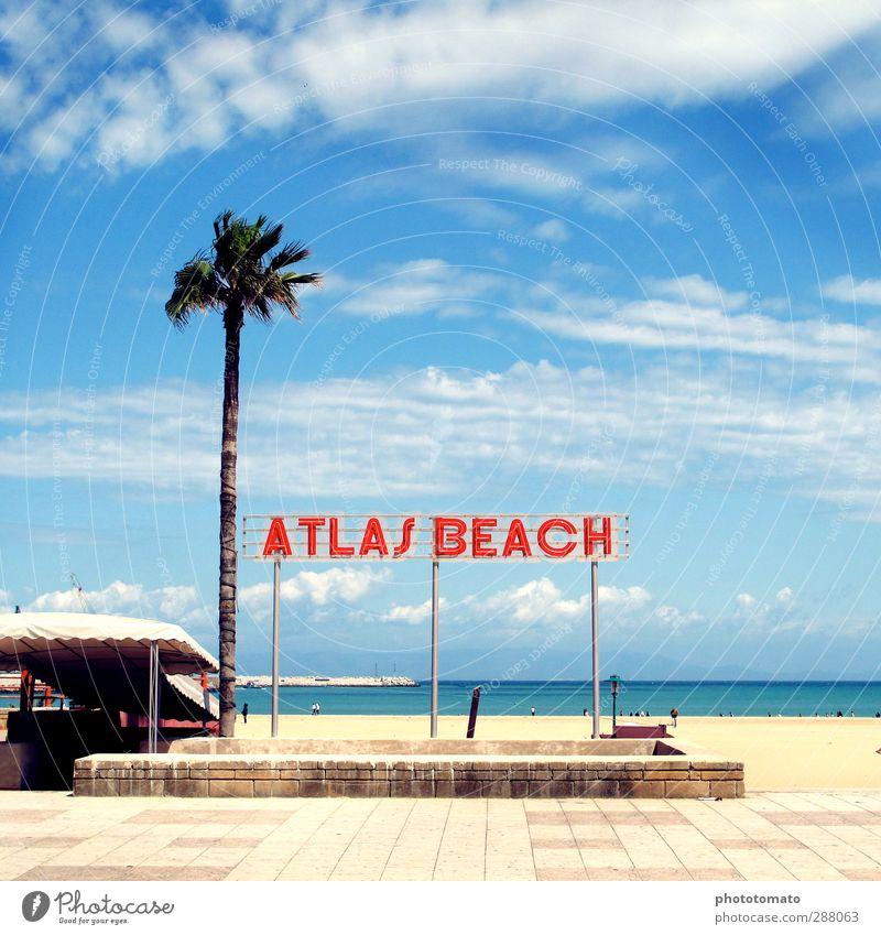 Atlas Beach Swimming & Bathing Vacation & Travel Tourism Freedom Summer Summer vacation Sun Sunbathing Ocean Island Air Sky Clouds Sunlight Coast Tangiers