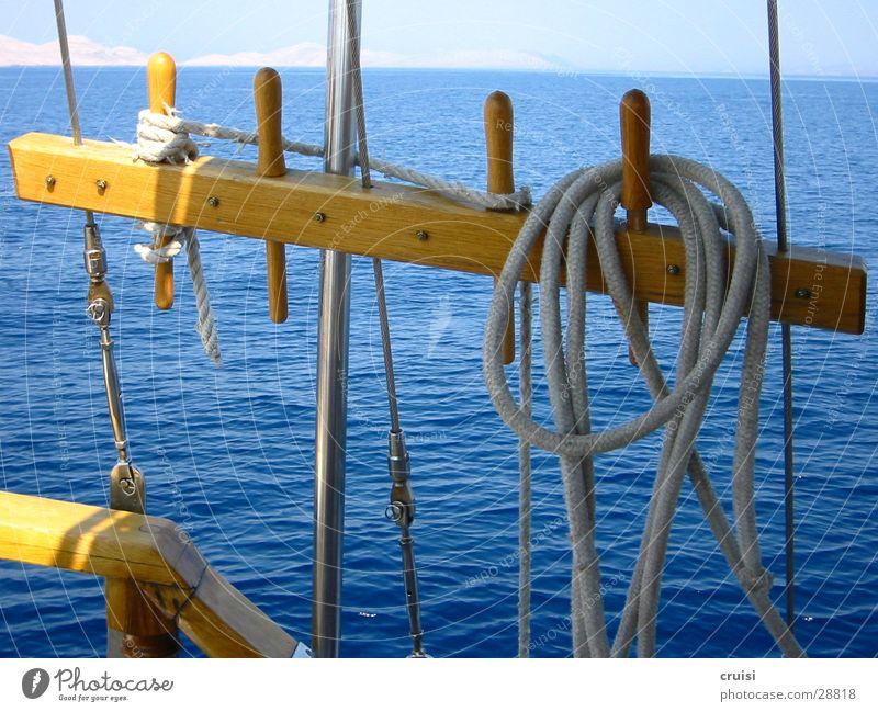 rig Croatia Kornati Murter Rigging Sailing Sailboat Ocean Vacation & Travel Summer vacation Rope Horizon Watercraft Europe Sun Blue