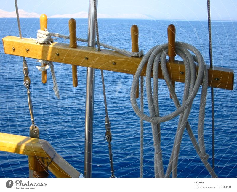 Water Sun Ocean Blue Summer Vacation & Travel Watercraft Rope Horizon Europe Sailing Sailboat Croatia Summer vacation Rigging Kornati
