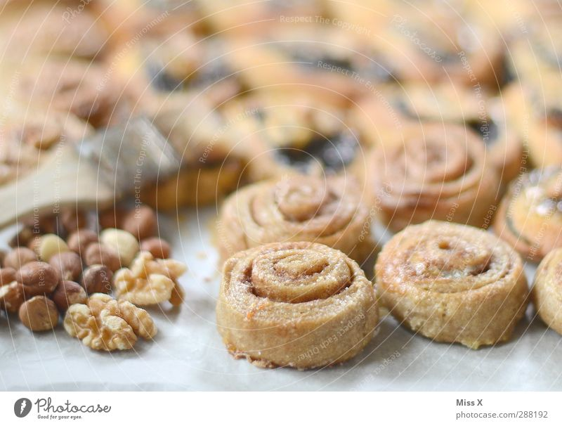 Food Nutrition Sweet Cooking & Baking Delicious Cake Spiral Baked goods Dough Walnut Self-made Crumpet Bakery Hazelnut Icing