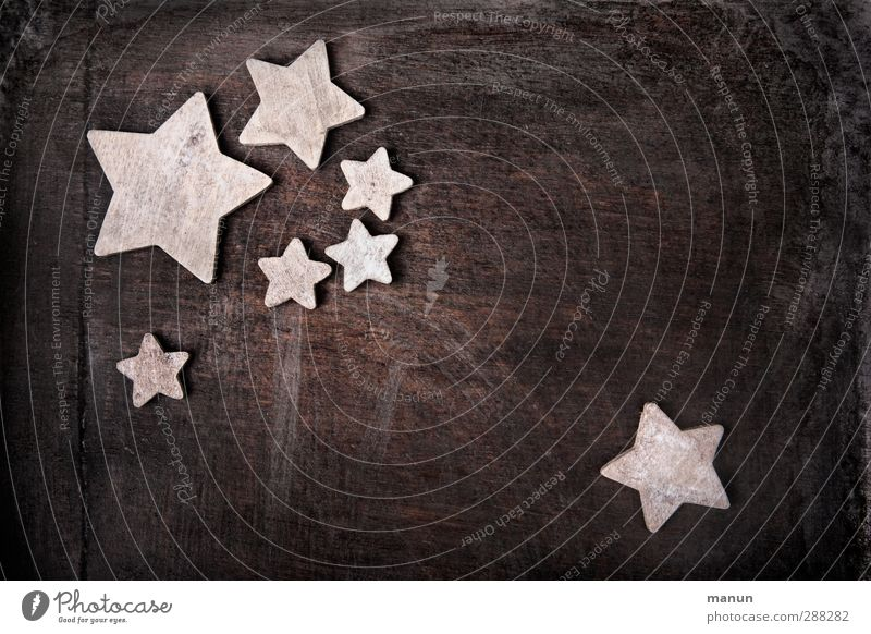 wooden stars Feasts & Celebrations Christmas & Advent Christmas decoration Christmas star Wood Sign Simple Natural Brown Anticipation Colour photo Interior shot