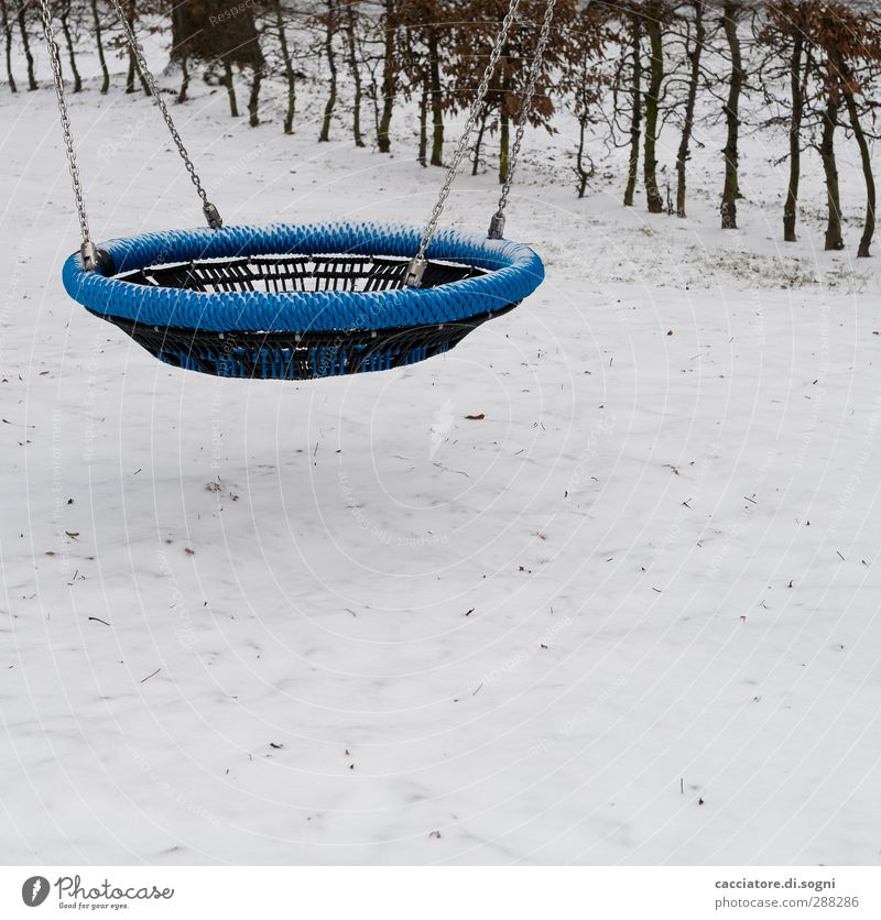 Blue Joy Loneliness Winter Relaxation Cold Snow Sports Playing Movement Park Infancy Leisure and hobbies Free Break Round