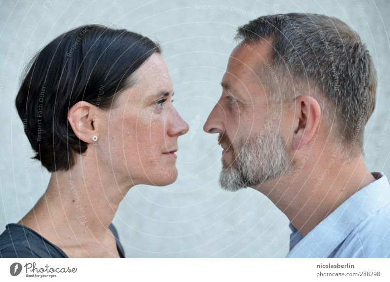 Let me occupy your mind, as you do mine. Flirt Human being Masculine Feminine Woman Adults Man Couple Face 2 Observe Communicate Love Looking Together Happy