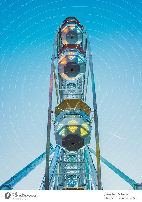 Ferris wheel at the carnival Beautiful weather Esthetic Exceptional Joy Joie de vivre (Vitality) Enthusiasm Bravery Multicoloured Fairs & Carnivals Freedom