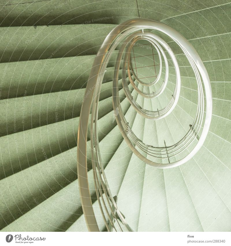 Green City House (Residential Structure) Architecture Building Bright Exceptional Stairs Elegant High-rise Esthetic Retro Round Handrail Manmade structures