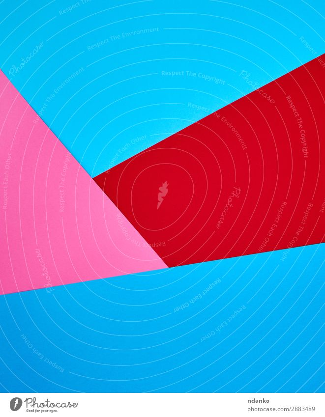 abstract background of colorful shapes Style Design Decoration Craft (trade) Art Paper Bright Hip & trendy Modern Blue Pink Red Colour Creativity element