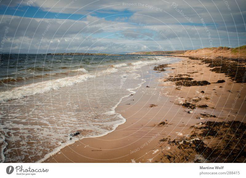 Nature Vacation & Travel Water Summer Ocean Calm Landscape Beach Far-off places Coast Freedom Waves Europe Trip Atlantic Ocean Scotland