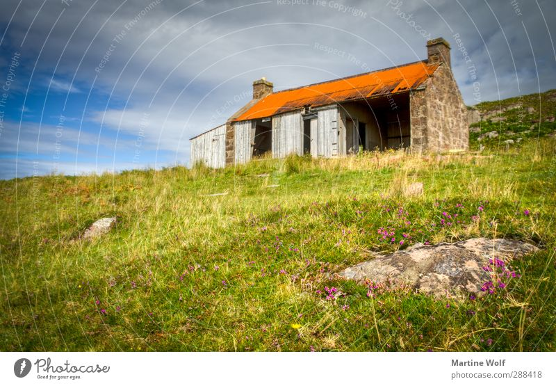 Lost in Red Point Beach Vacation & Travel Trip House (Residential Structure) Nature Landscape Grass Moss Meadow Hill Great Britain Scotland Europe Hut Ruin