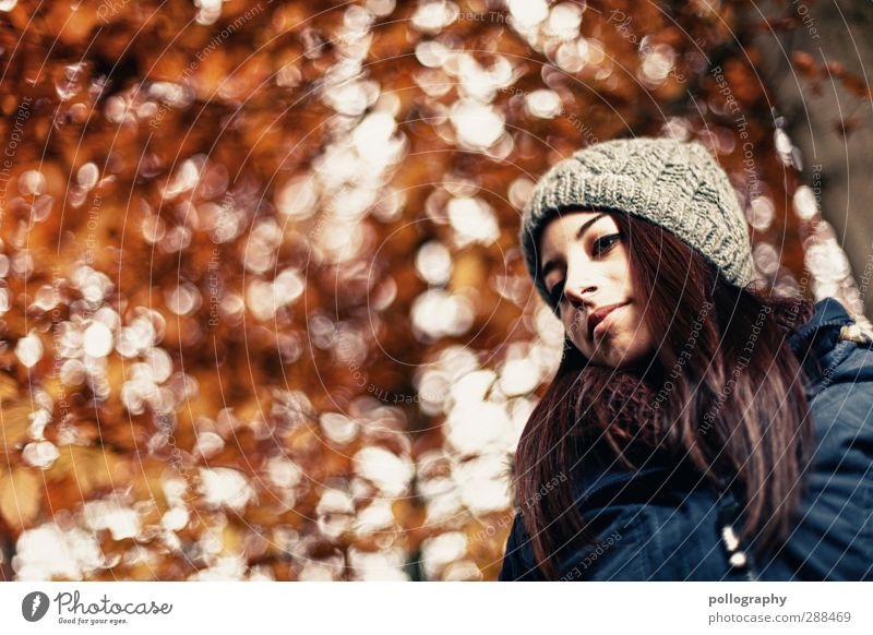 Human being Woman Nature Youth (Young adults) Plant Tree Loneliness Calm Landscape Adults Young woman Autumn Life Feminine Emotions Sadness