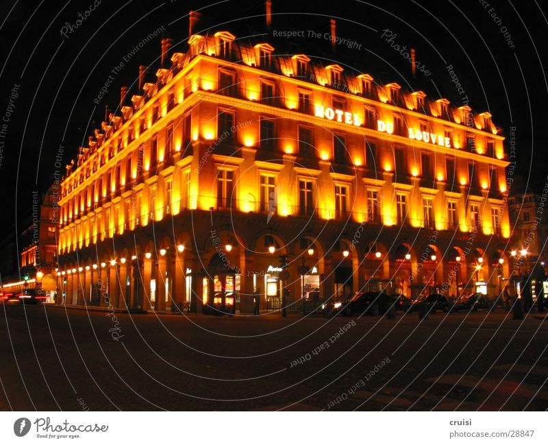 Hotel de Louvre Light Lamp Night Paris Black Dusk Romance Europe Evening Lighting