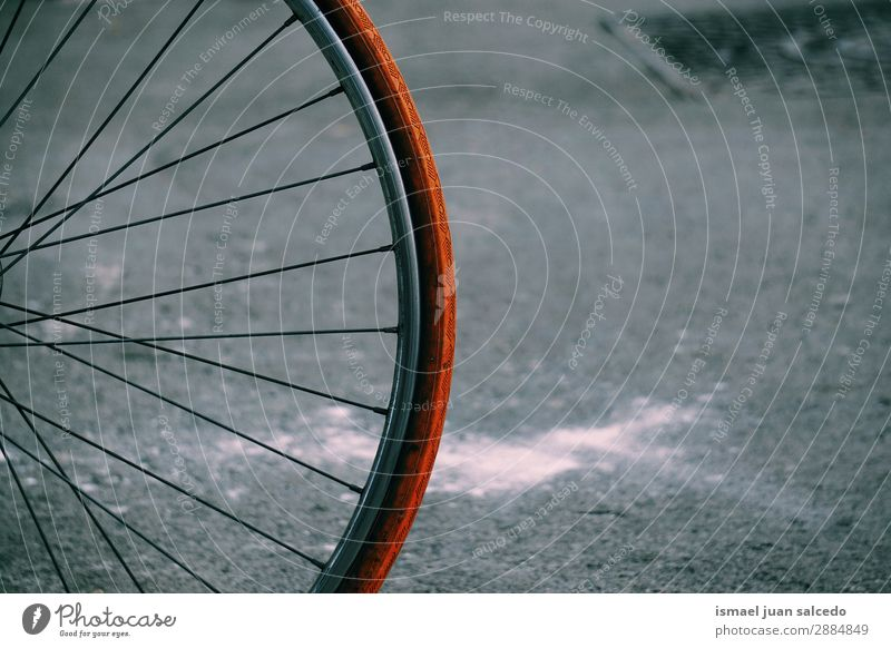 bicycle in the street Old Street Sports Leisure and hobbies Metal Transport Bicycle Cycling Object photography Wheels Bicycle handlebars Car seat Cycle