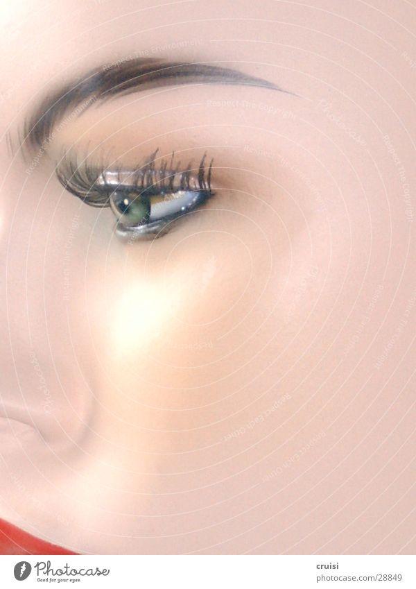 Woman Face Eyes Cosmetics Make-up Doll Eyelash Lipstick Mannequin