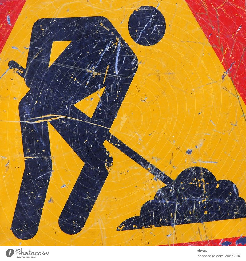 Shovel man | on the road again Work and employment Profession Craftsperson Workplace Construction site Craft (trade) Work of art Transport Road traffic