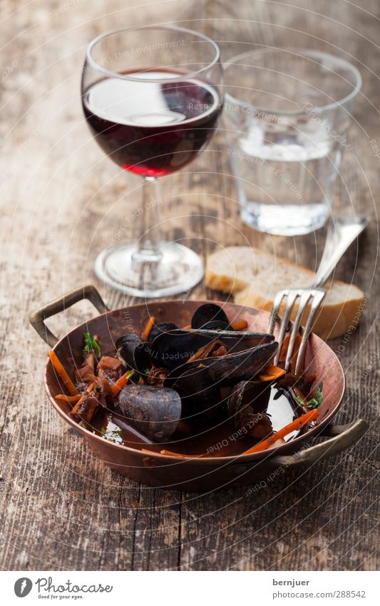 Wood Food Glass Drinking water Fresh Nutrition Beverage Cooking & Baking Good Wine Crockery Bread Luxury Silver Bowl Mussel