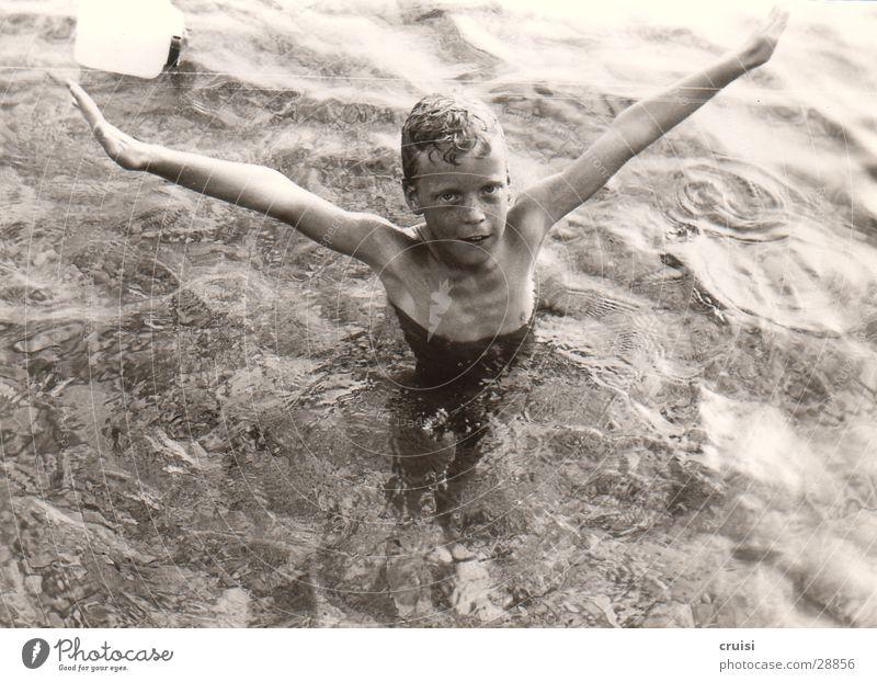 Child Man Water Ocean Summer Vacation & Travel Cold Wet Croatia Adriatic Sea Murter