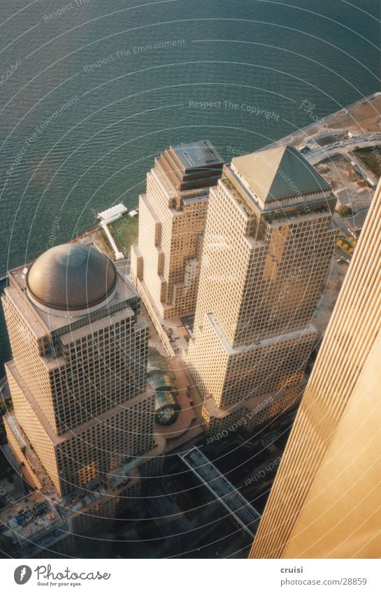 Architecture Facade High-rise Perspective Level Downward New York City Domed roof World Trade Center High-rise facade