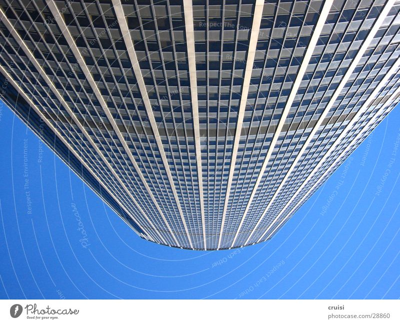Sky Blue Architecture Glass High-rise Perspective Level Paris France Size Vertigo
