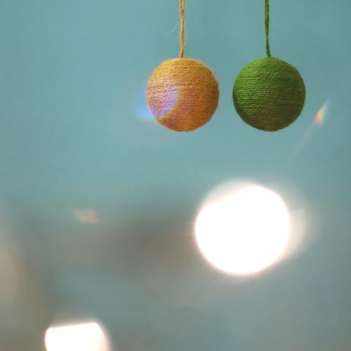 my two balls. Feasts & Celebrations Christmas & Advent Decoration Illuminate Round Blue Green Light (Natural Phenomenon) Visual spectacle Christmas decoration
