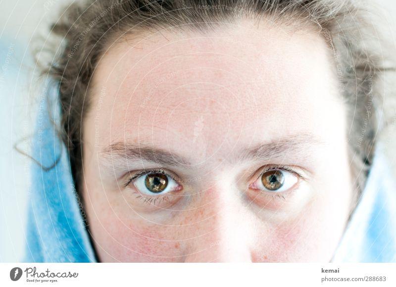shuhuhu Human being Feminine Woman Adults Life Eyes Forehead Eyebrow 1 30 - 45 years Looking Fresh Brown Clarity Intensive Hypnotic Towel Colour photo