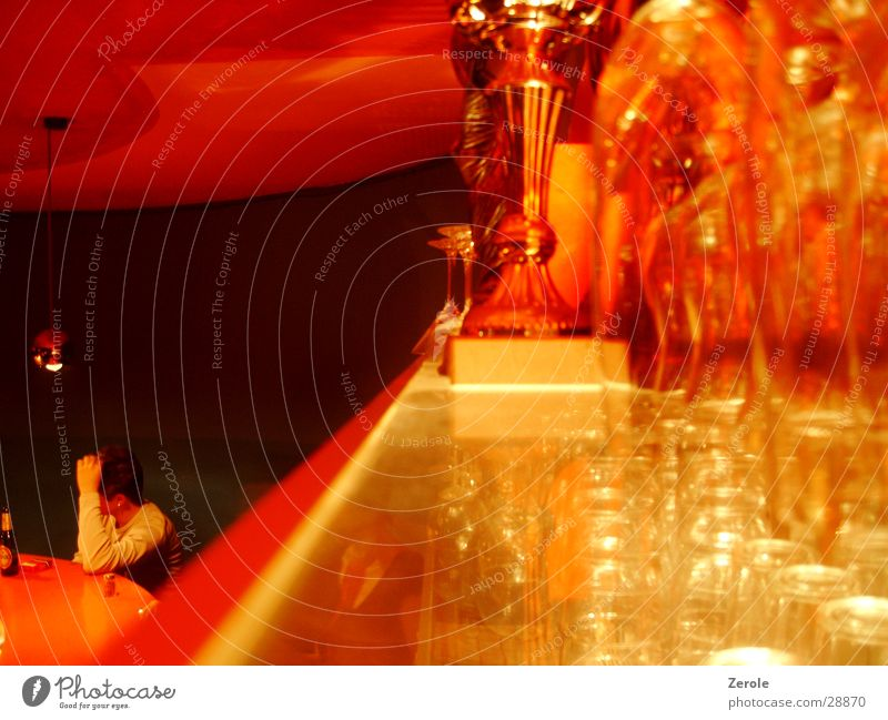At the bar Bar Glass Style Drinking Photographic technology Orange unusual perspective