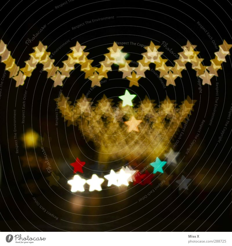 Christmas & Advent Feasts & Celebrations Gold Illuminate Star (Symbol) Christmas decoration Fairy lights Sea of light Christmas fairy lights