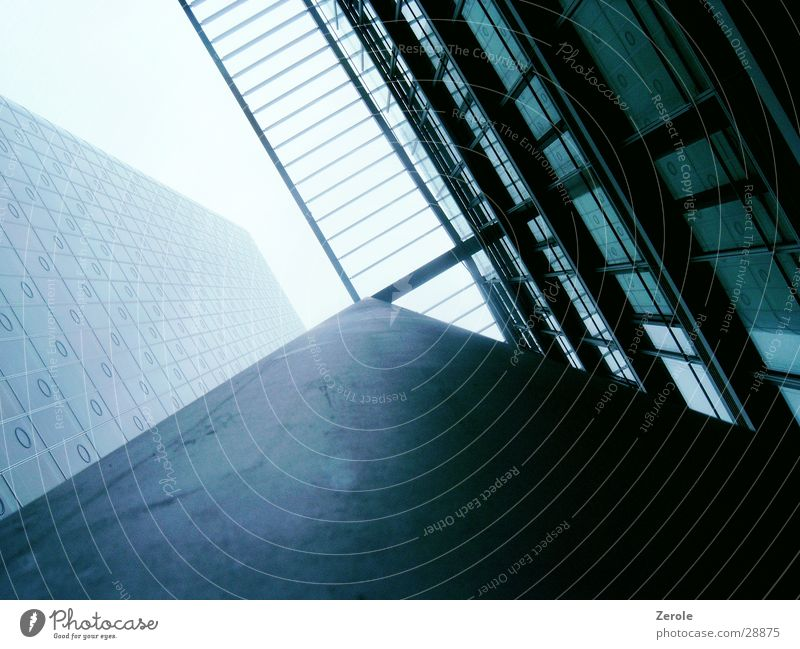 high-rise façade House (Residential Structure) Perspective Crazy Above Column Architecture