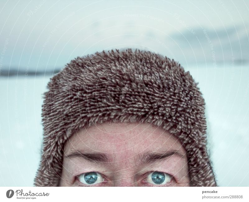vodka Life Winter Snow Human being Androgynous Adults Face Eyes 1 45 - 60 years Nature Landscape Cap Power Willpower Brave Determination Passion Secrecy