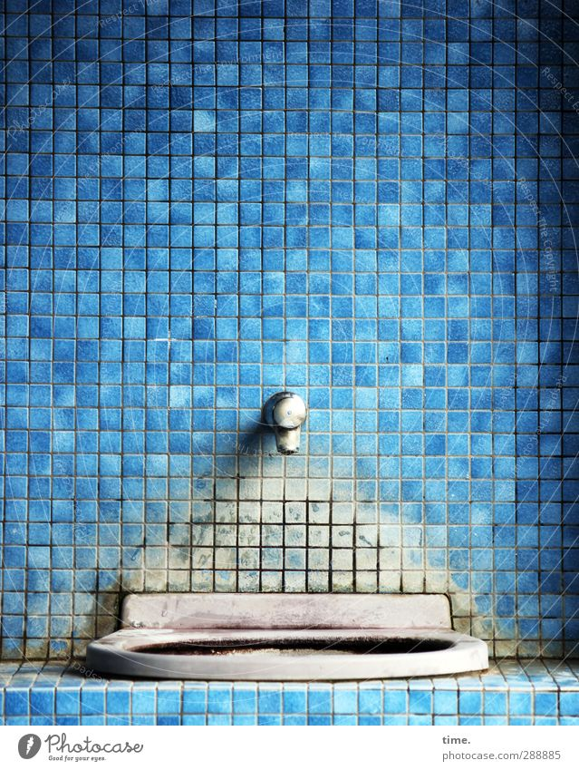 refreshment biscuits Room Bathroom Tile Sink Tap Wall (barrier) Wall (building) Facade Exceptional Historic Broken Truth Authentic Concentrate Decline