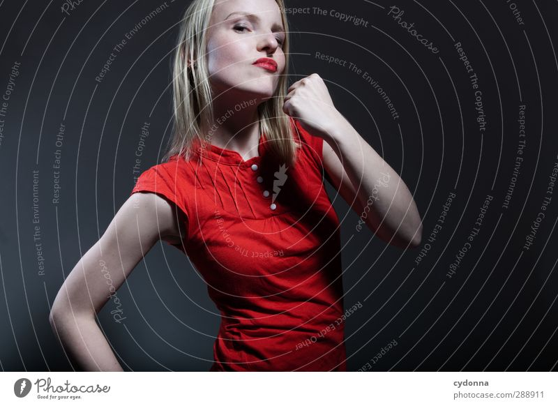 Human being Youth (Young adults) Beautiful Red Adults Young woman Life Sports 18 - 30 years Power Success Might Threat Fitness Education Risk