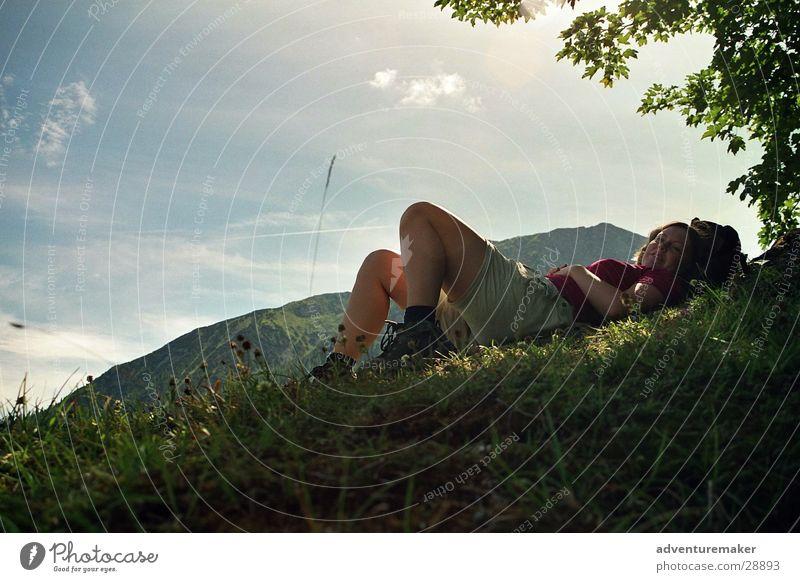 Sky Summer Playing Mountain Europe Break Alps Austria Mountaineering Alpine pasture Climbing
