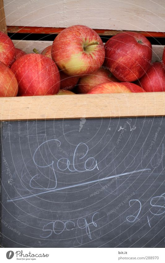 Red Healthy Fruit Food Signs and labeling Fresh Characters Nutrition Shopping Digits and numbers Apple Delicious Blackboard Luxury Box