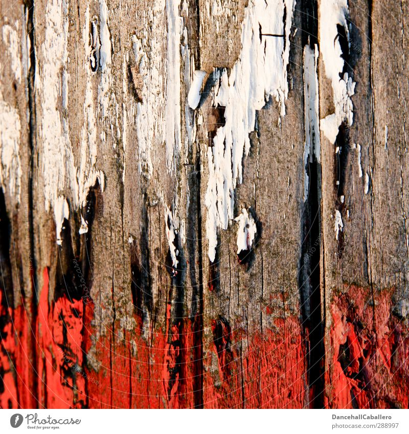 Sky Old White Colour Red Wood Line Art Transience Painting (action, work) Tracks Dry Flag Destruction Flake off Redecorate