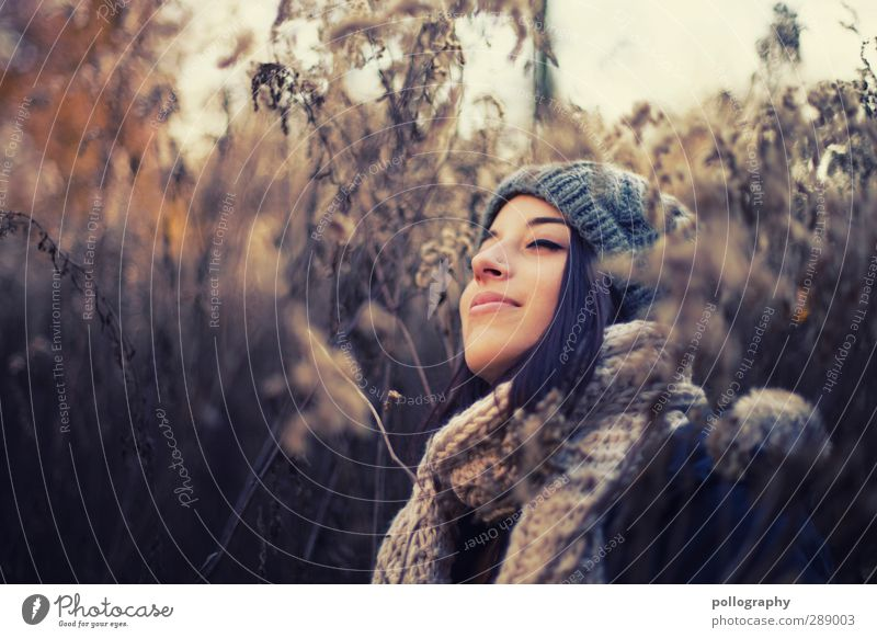 enjoy (13) Human being Feminine Young woman Youth (Young adults) Woman Adults Life Body 18 - 30 years Nature Landscape Plant Sky Autumn Beautiful weather Grass