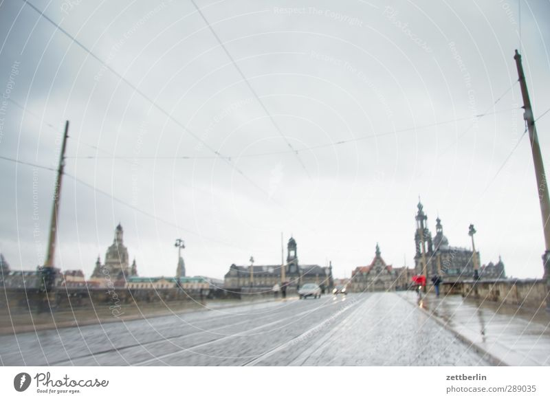 Sky Old City Clouds House (Residential Structure) Environment Horizon Rain Tourism Church Bridge Castle Skyline Monument Dresden Landmark