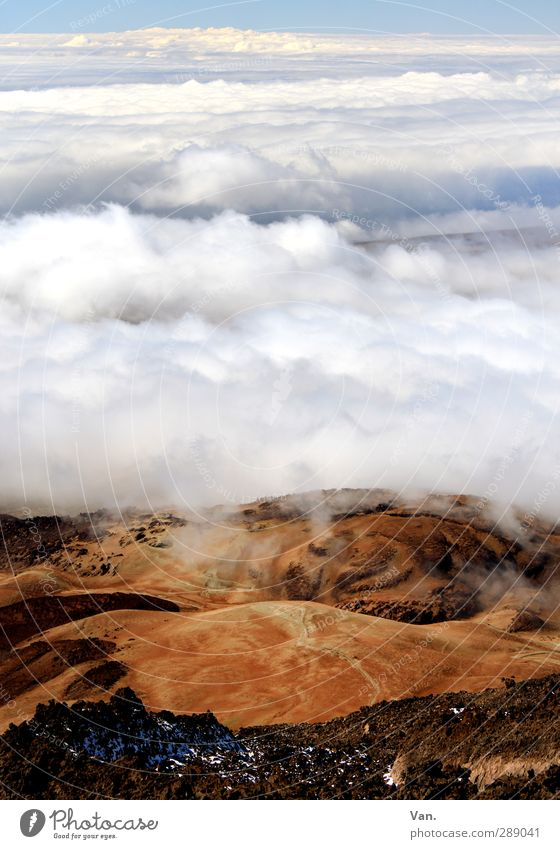 Montana roja Vacation & Travel Hiking Nature Landscape Earth Sky Clouds Hill Rock Mountain Tenerife Tall Red White Colour photo Multicoloured Exterior shot