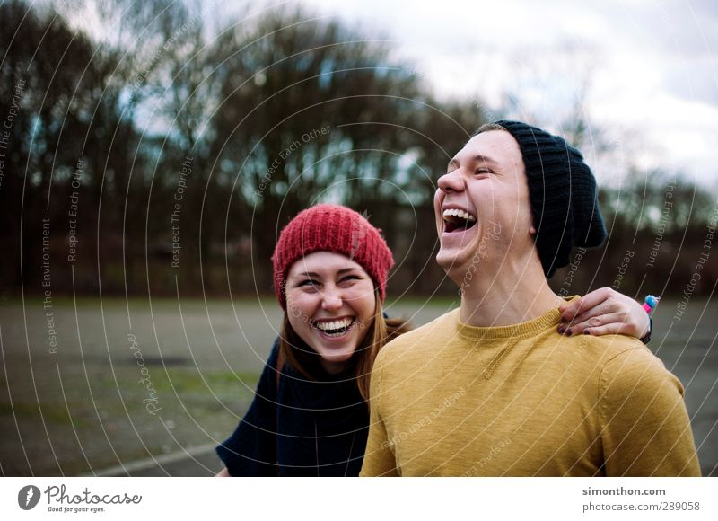 laugh Academic studies Success Masculine Feminine Brothers and sisters Sister Friendship Couple Partner Youth (Young adults) 2 Human being 18 - 30 years Adults