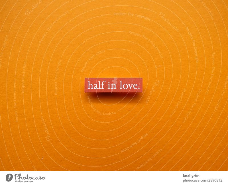 half in love. Characters Signs and labeling Communicate Love Orange White Emotions Happy Joie de vivre (Vitality) Spring fever Sympathy Friendship Together