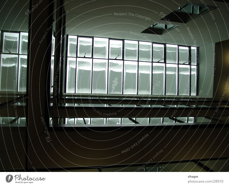 floor_01 Dark Black White Window Roof Architecture Bright Glass Light (Natural Phenomenon) Handrail