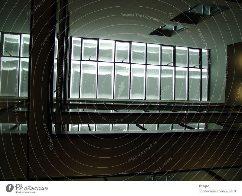 White Black Dark Window Bright Architecture Glass Roof Handrail