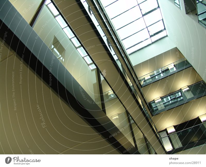 Sky Dark Building Bright Architecture Glass Horizon Tall Perspective Roof Story Handrail